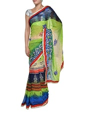Stylish Multi Print Georgette Saree - Aggarwal Sarees