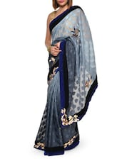 Luxe grey georgette saree