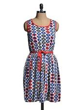 Multicoloured Printed Dress - Mishka
