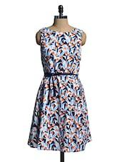 Multicoloured Sleeveless Printed Dress - Mishka