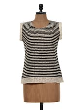 Black And White Striped Top - Colbrii