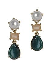 White Pearl Drop Earrings - YOUSHINE
