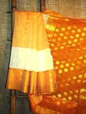Mustard Floral Banarasi Saree