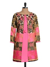 Bright Pink Polyester Kurti - Glam And Luxe