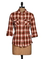 Roll-up Sleeve Red Check Shirt - Overdrive