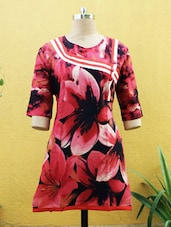 Red Floral Print Kurti - Sutee