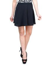 Black Crepe Skater Skirt - KARYN