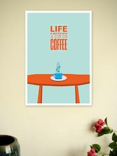 Coffee Print Poster For Coffee Shop Wall Decor - Lab No. 4 - The Quotography Department