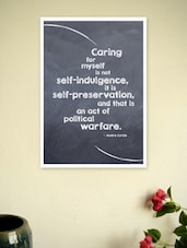 Caring For Myself Is Self Politics'  Quotes Poster - Lab No. 4 - The Quotography Department