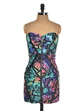 Colourful Print Strapless Bodycon Dress - Lipsy