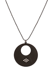 Black Pendant With Beaded Chain - THE BLING STUDIO