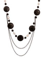 Black Beaded Chain Necklace - THE BLING STUDIO