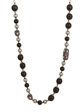 Black Beaded Necklace - THE BLING STUDIO