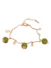 Golden Bracelet With Studs - THE BLING STUDIO