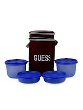 Blue Violet Lunch Box With Bag (Set Of 4) - Trust & Guess