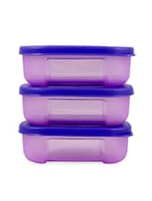 Sleek Violet Boxes (Set Of 3) - Trust & Guess