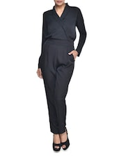 Black Printed Jumpsuit - Magnetic Designs