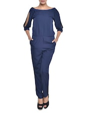Solid Navy Blue Jumpsuit - By