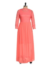 Solid Pink Maxi Dress - Magnetic Designs