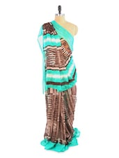 Lovely Brown And Green Shaded Saree With Blouse Piece - ROOP KASHISH