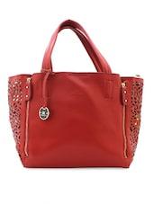Red Laser Cut Tote Bag - Diana Korr