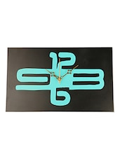 BLACK AND SKY BLUE WALL CLOCK - Lumber Gifts