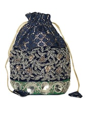 Gorgeous Royal Blue Embellished Potli Bag - Hastakrta