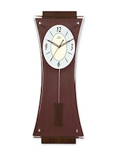Brown Pendulum MDF Wood  Wall Clock - By