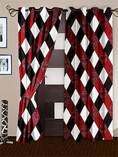 Multicolour Polyester Eyelet Curtain Set Of Two - Story @ Home