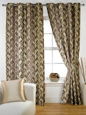 Color Block Printed Eyelet Curtain Set Of Two - Story @ Home