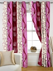 Geometric Color Block Eyelet Curtain Set Of Two - Story @ Home