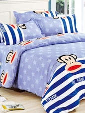 Blue Quirky Star Double Bed Sheet - Story @ Home