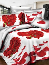 Heart Shape Rose Double Bed Sheet - Story @ Home