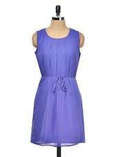 Blue Pleated Dress - Meee!