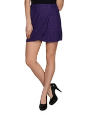 Purple Lace Skirt - Meee!