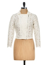 Ivory Lace Jacket - Meee!