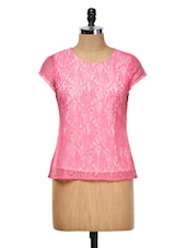 Pink Lace Top - Meee!