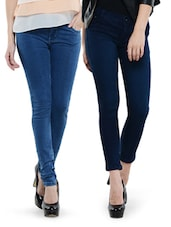 Combo Of Light Blue And Dark Blue Jeans - Dashy Club