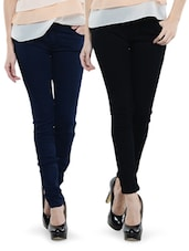Combo Of Navy Blue And Black Jeans - Dashy Club