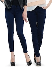 Combo Of 2 Navy Blue Jeans - Dashy Club