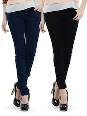 Combo Of  Blue And Black Jeans - Dashy Club