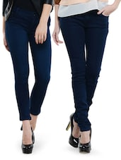 Combo Of Deep Blue And Navy Blue Jeans - Dashy Club