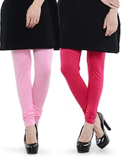 Combo Pack Of Pink And Baby Pink Leggings - Dashy Club