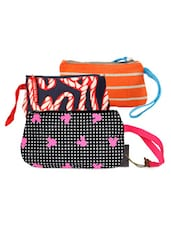 Multi-coloured Canvas Wristlet Combo - Be... For Bag