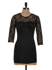 Black Bodycon Bow Dress - STREET 9