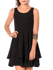 Black Sleeveless Fit & Flare Dress - URBAN RELIGION
