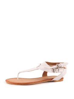 Glossy White Sandals - Tresmode