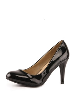 Black Round Toed Pumps - Tresmode