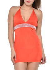 Red Halter-Neck Backless Dress - Feneleisi
