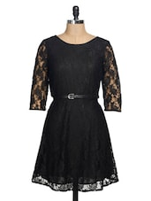 Little Black Lace Dress - La Zoire